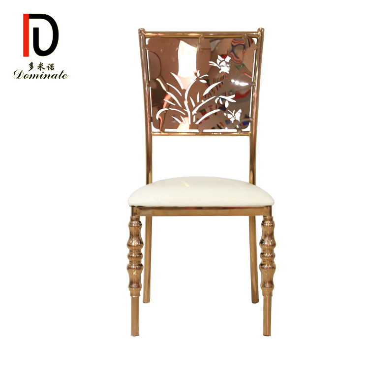 Special Price for High Back Gold Stainless Steel Dining Chair - Orchid dining event chair for wedding – Dominate