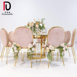 Wedding event stainless steel gold table