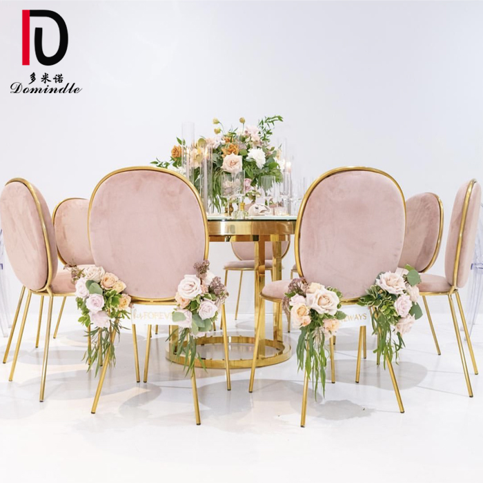 Factory wholesale Stainless Steel Hotel Table - Wedding event stainless steel gold table – Dominate