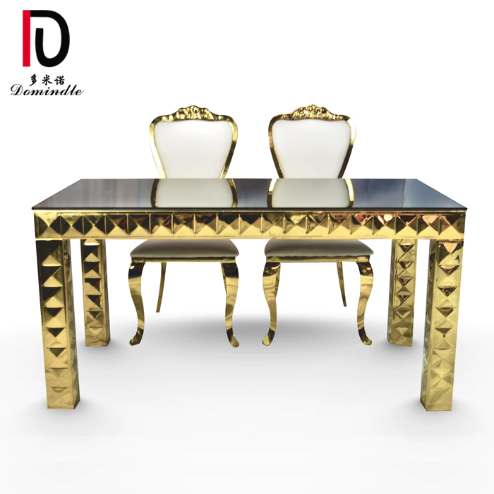 18 Years Factory Modern Wedding Stainless Steel Table - Wedding furniture gold table – Dominate Featured Image
