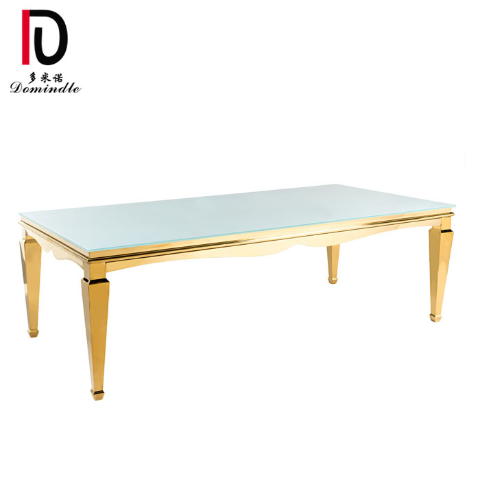 Wholesale Price Event Wedding Hotel Table - Wedding mirror glass dining table – Dominate