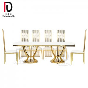 Wholesale Price Gold Metal Wedding Table - New design wedding furniture dining table – Dominate