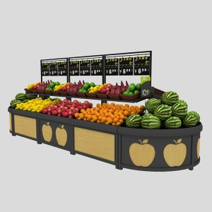 Dry fruit and vegetable display rack shelf