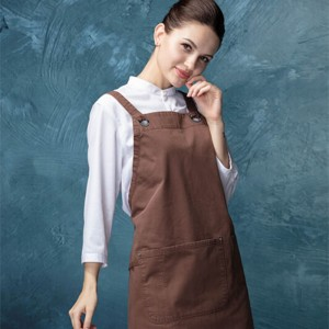 CU382S134000AZ 100%Cotton with artisan finish fashion bib aprons