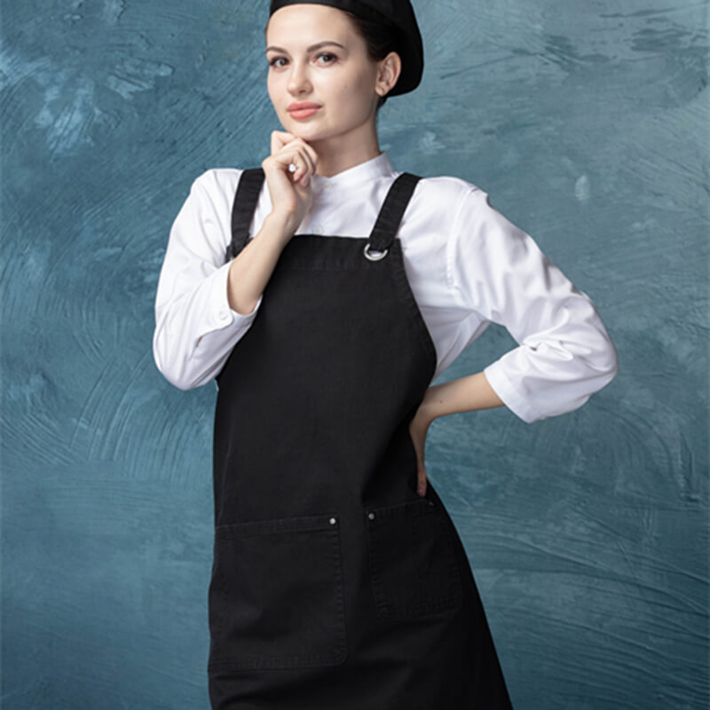 CU382S001000AZ 100%Cotton with artisan finish fashion bib aprons Featured Image