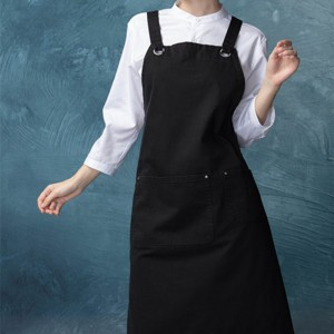 CU382S001000AZ 100%Cotton with artisan finish fashion bib aprons
