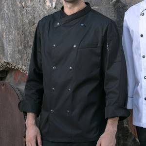Double Breasted Cross Collar Long Sleeve Chef Uniform And Chef Jacket For Hotel And Restaurant CU102C0100C1