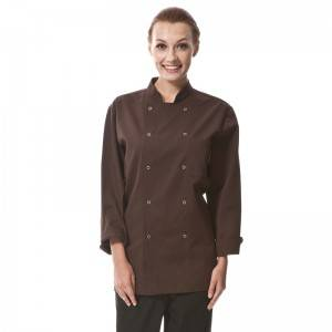 Classic Fashion Double Breasted Long Sleeve Chef Coat And Chef Uniform With Stand Collar For Restaurant And Hotel CU104C1100A