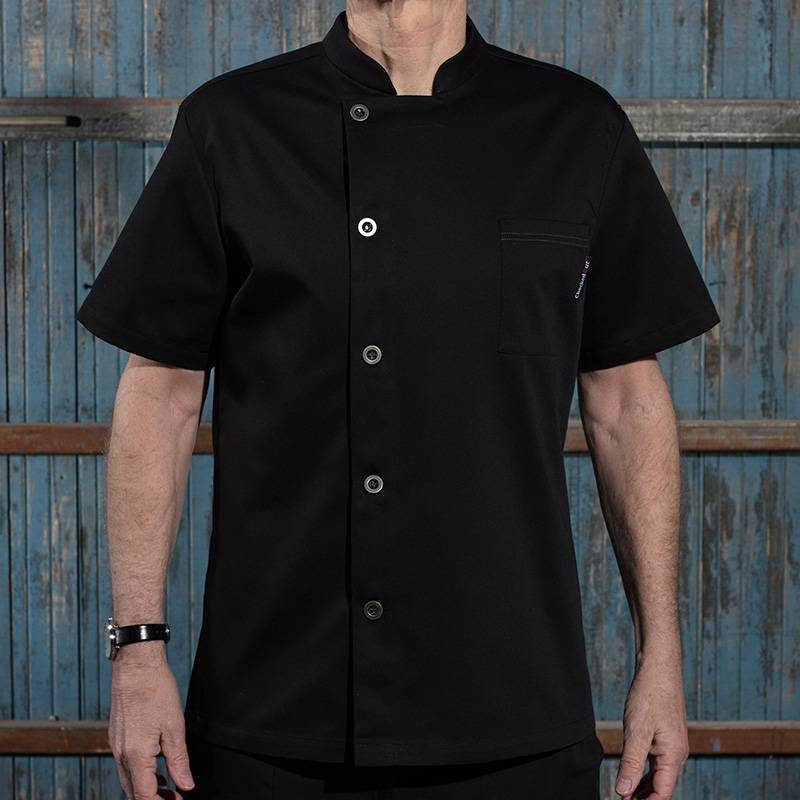 Classic Single Breasted Short Sleeve Chef Jacket For Hotel And Restaurant U106D0100A Featured Image