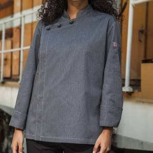 Hidden Placket Long Sleeve Classic Design Chef Jacket And Chef Uniform For Hotel And Restaurant CU1107C5900A
