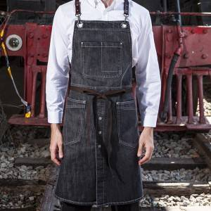 Denim Bib Corssback Kitchen Chef Apron CU352S129000T