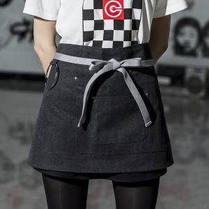 Canvas Waist Chef Apron With Pockets CU378S001022U4