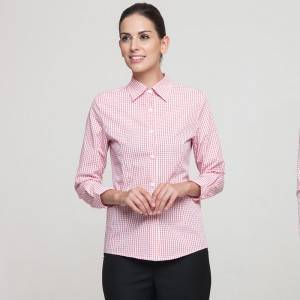 Polyester Cotton Classic Long Sleeve Slim Fit waitress uniform Shirt CW195C5800H