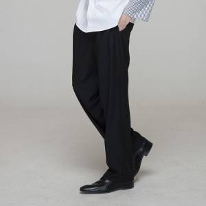 Men black chef pants with pockets for kitchen work M203C0100L