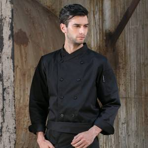 Double Breasted Cross Collar Long Sleeve Chef Uniform And Chef Jacket For Hotel And Restaurant CU102C0100A