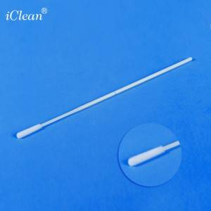 iClean® 93050T Oropharyngeal Nylon Flocked Swab Specimen Collection Swab Sterile Swab Dry Transport Tube Medical Swab