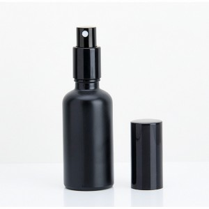10ml 15ml 20ml 30ml 50ml 100ml Wholesale Matte Frosted Black Essential/Hair Oil Glass Bottle Cosmetic With Pump