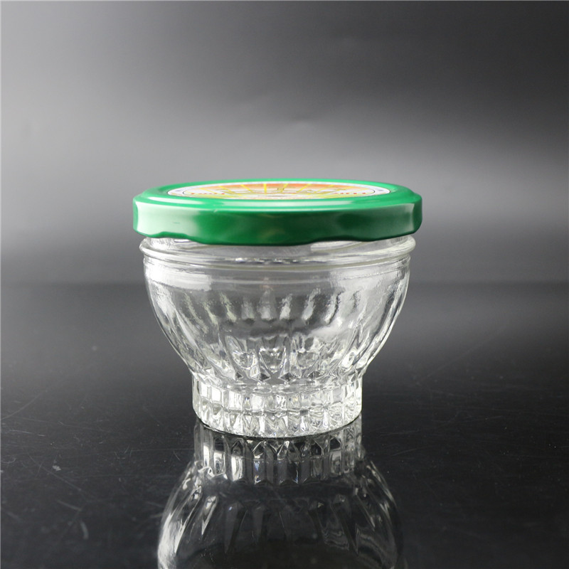 linlang shanghai factory direct sale super flint glass jar caviar with tinplate cap Featured Image