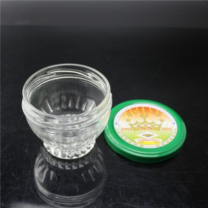 linlang shanghai factory direct sale super flint glass jar caviar with tinplate cap