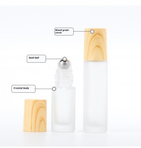3ml 6ml 10ml 12ml Octagonal Glass Steel Ball Bottle Essential Oil Metal Bead Bottle Alloy Cover Bottle