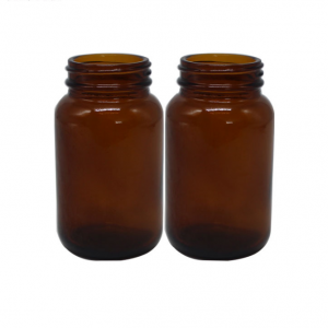 70ml 100ml 200ml amber medicine glass bottle with child resistant lid