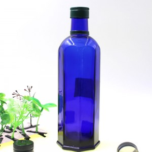 Blue Olive Oil Container And Packaging Bottle Protect Form Light