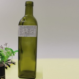 Charming 750ml Container Cylindrical Glass Olive Oil Bottle
