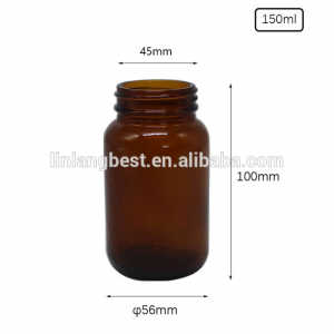 China manufacturer recyclable airless pharmaceutical amber glass bottle