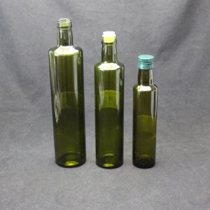 Different Container Cylindrical Glass Olive Oil Bottle