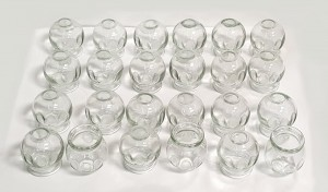 Fire Cupping Set – 5 cups Cupping Jar Traditional Chinese Glass