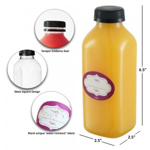 Glass Material and Decal Surface Handling Wholesale Empty Frescor Glass Juice Bottle 300Ml