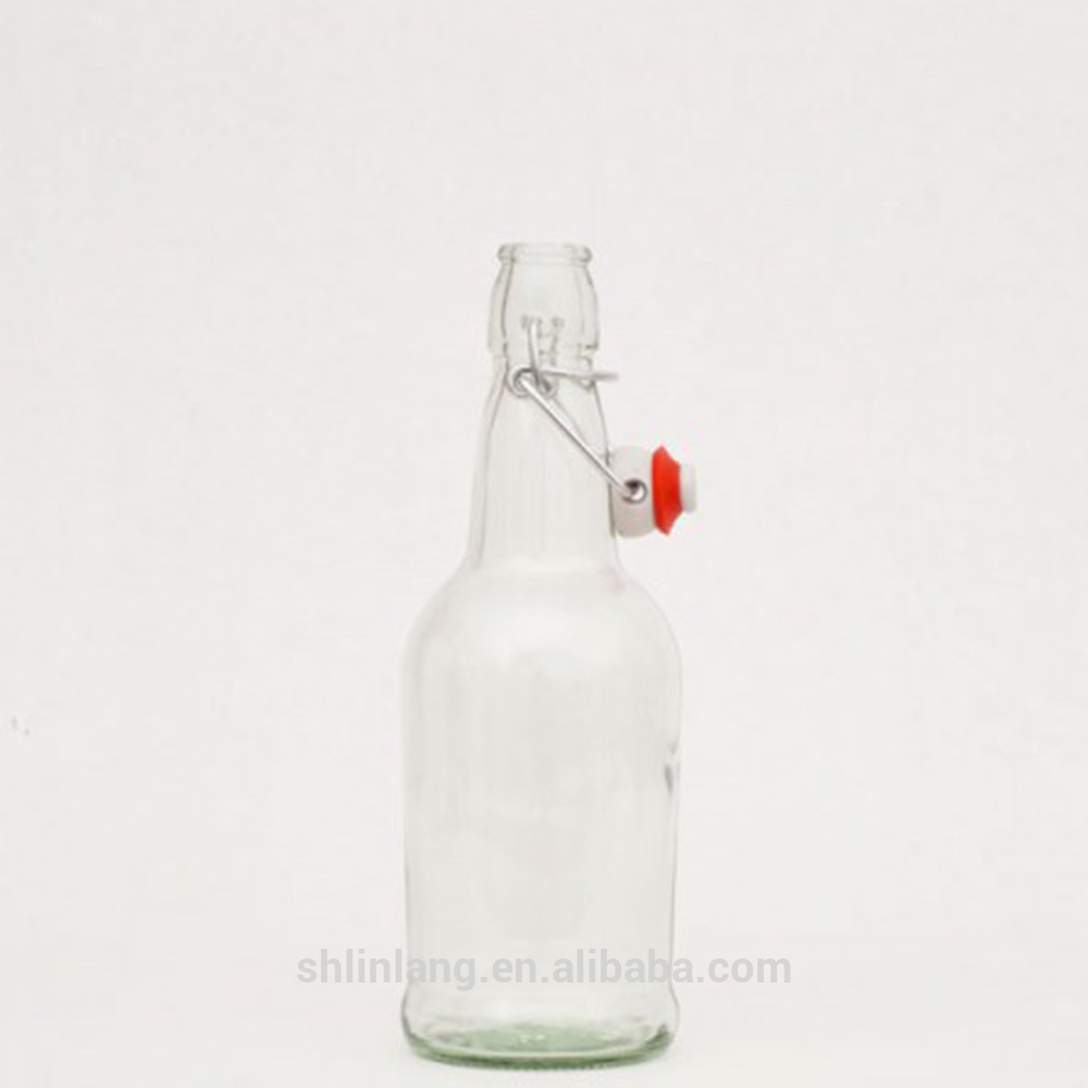 Shanghai linlang Wholesale Flint and Amber swing top beer bottle