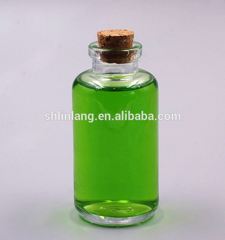 alibaba china shanghai linlang 100ml 200ml Home Fragrance Reed Diffuser Glass Bottle Cork
