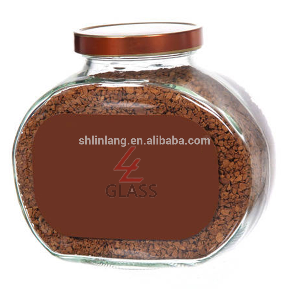 Shanghai Linlang clear and blue colour series packing coffee glass jar with seal plastic cap