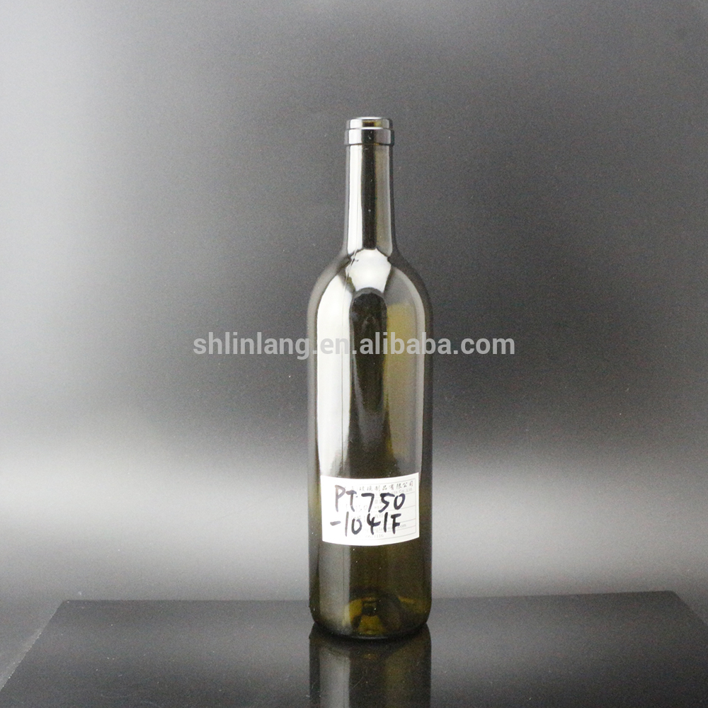 Shanghai Linlang Wholesale 750ml antique green wine glass bottle