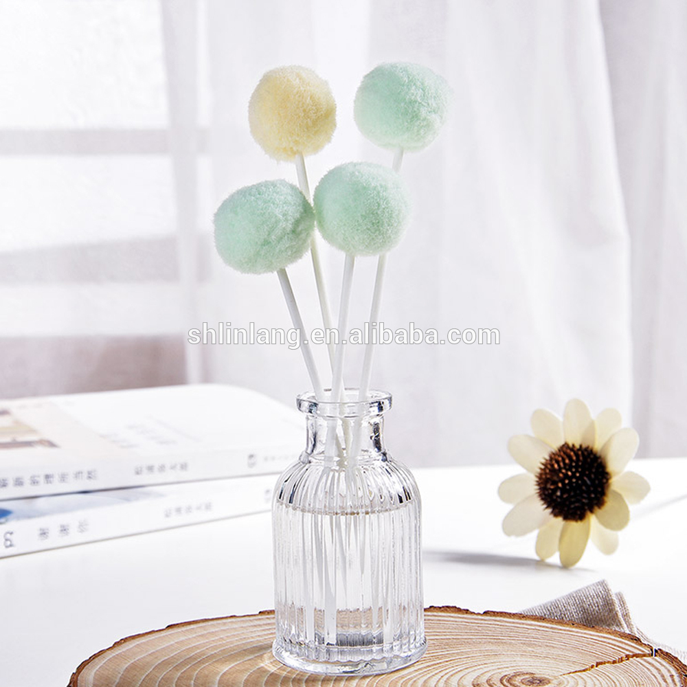 Decorative Glass parfum reed aroma diffuser flesse
