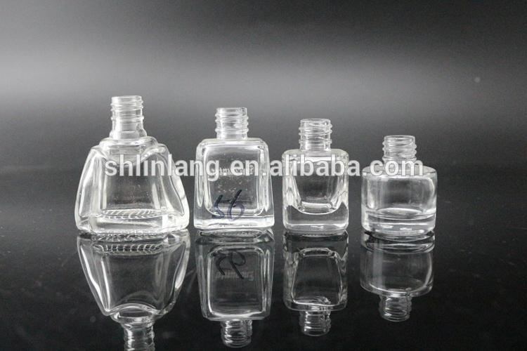 shanghai linlang 10 ml Glass Empty UV Gel Nail polish bottle