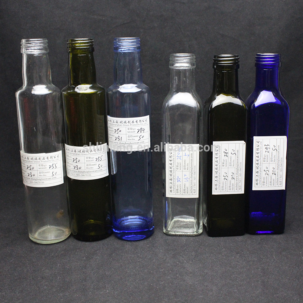 Xuzhou Linglang 250ml,500ml,750ml,1000ml Marasca Glass Bottle Olive Oil Bottle
