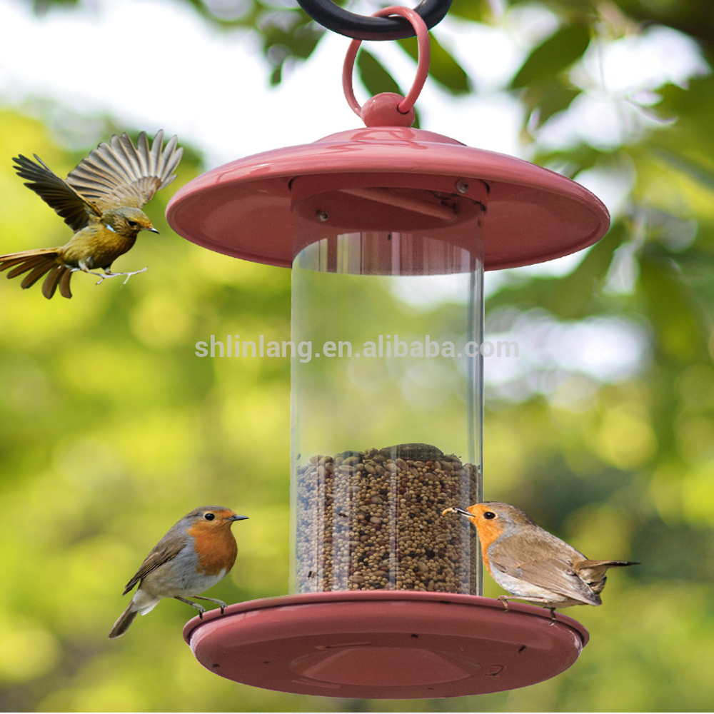 Food storage bowl & feeder type eco-friendly feature hanging bird feeder with antique accessories