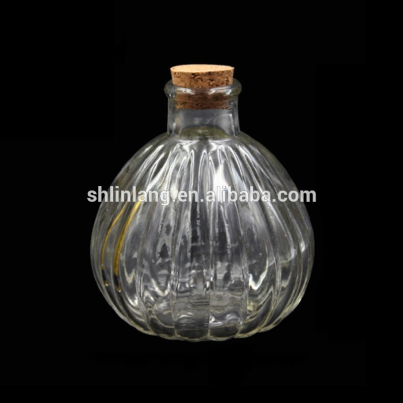 3.4 oz Clear Glass Cork Top Spherical Jar – 27mm Cork Neck Finish