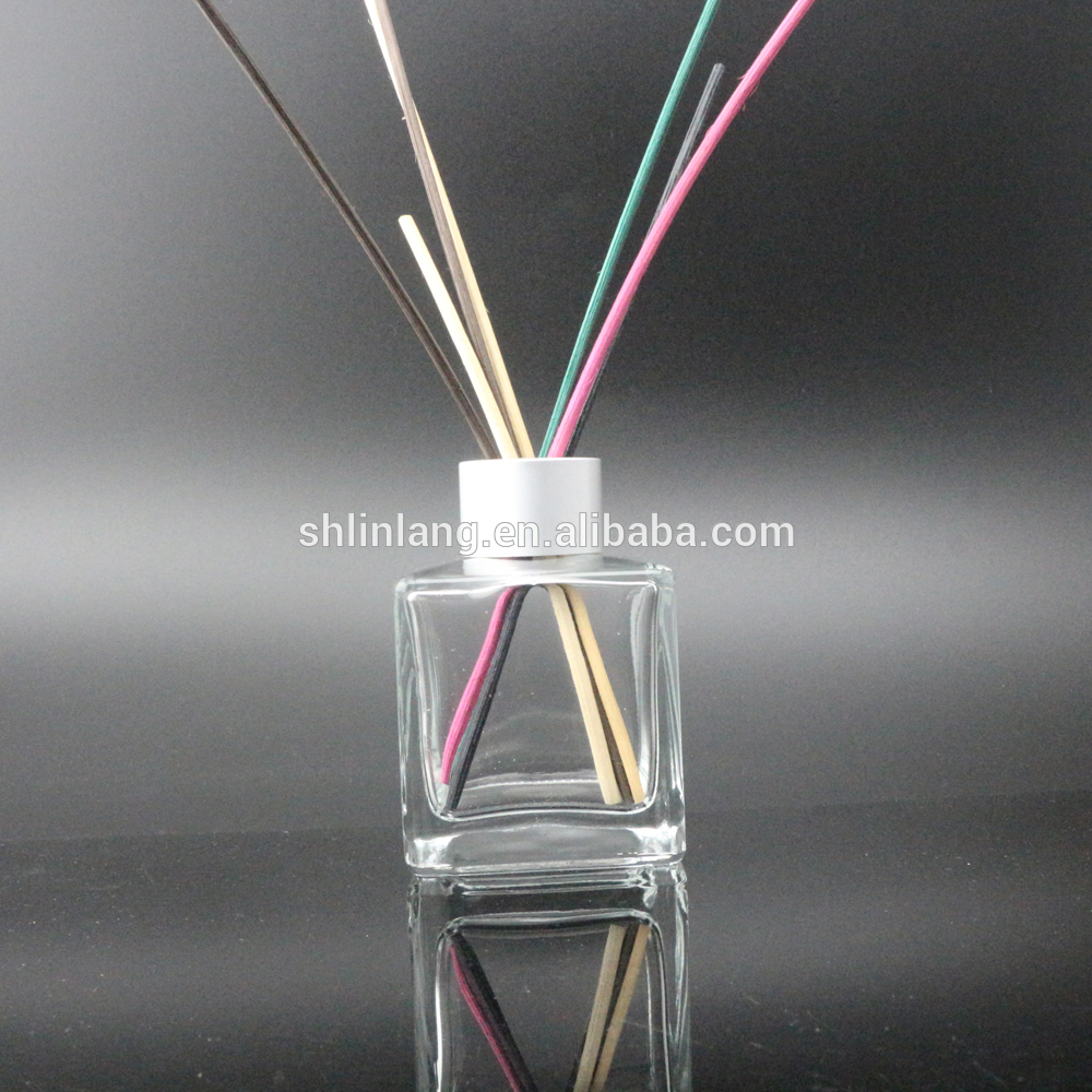 shanghai linlang Square and Empty Aroma reed diffuser Home Fragrance Diffuser Glass Bottles Factory