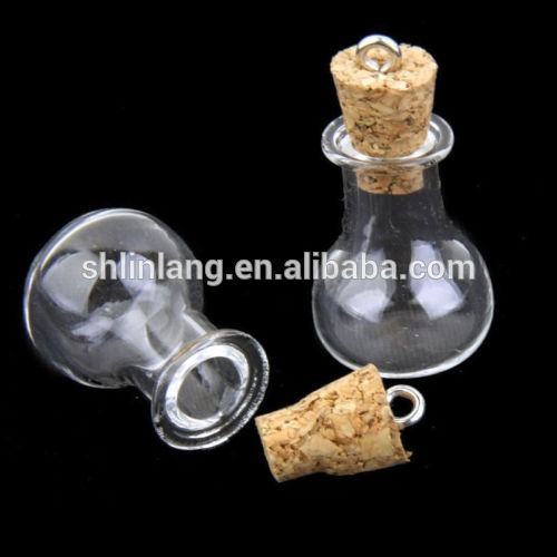 0.5/1/2/5ML Glass Vial Mini Small Cork Stopper 10ML Glass Vial Jars Containers Bottle Wholesale Glass Vial Pendants