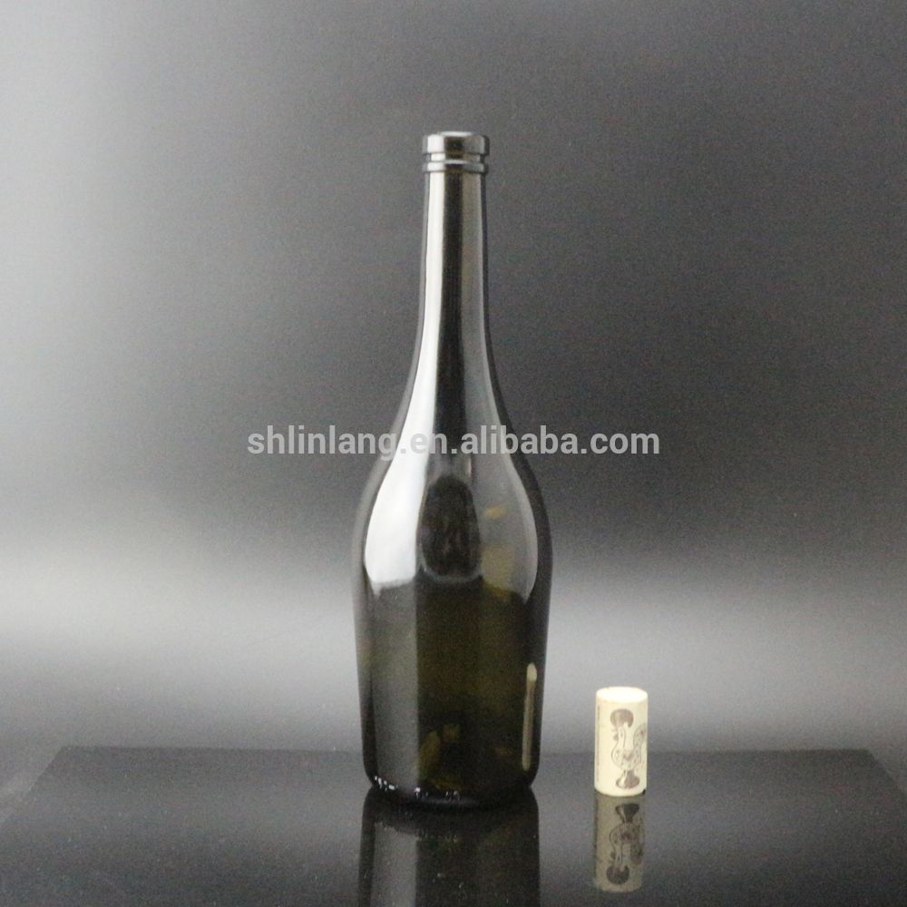 Shanghai Linlang Wholesale Burgundy empty glass bottle red wine 750ml