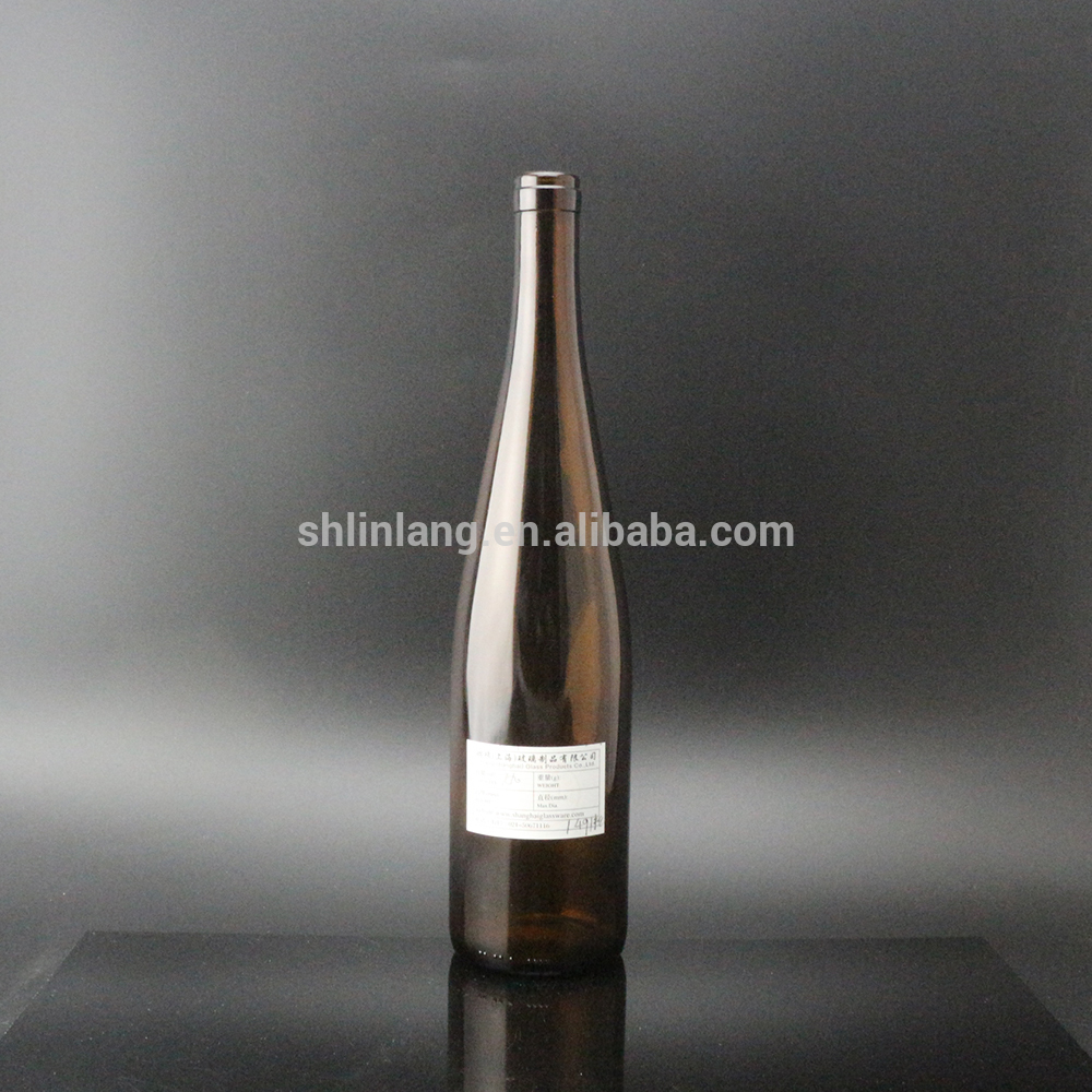 Shanghai Linlang wholesale 750 ml round shape glass wine bottle