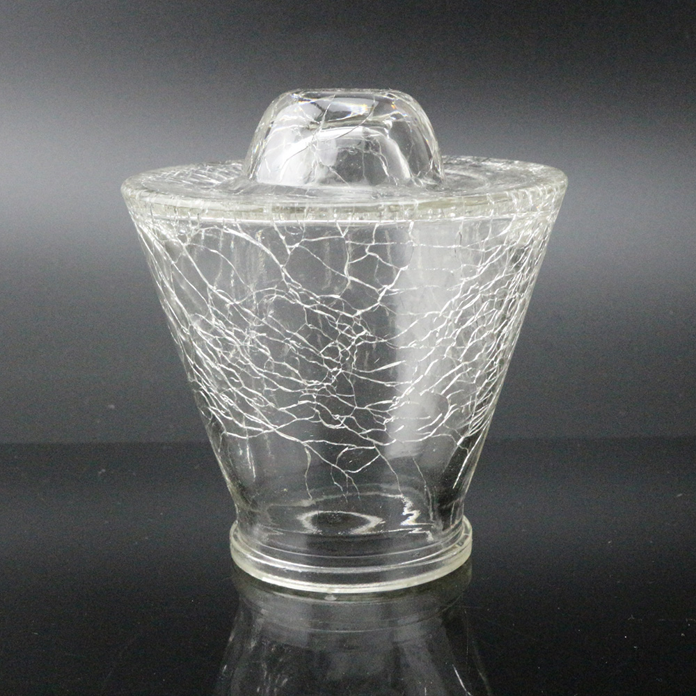 New Style Cracked Texture Cone sura Glass Bulb Cover