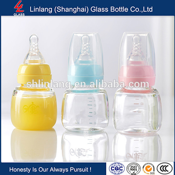 Linlang hot sale baby miniature glass 60ml 2oz baby bottle