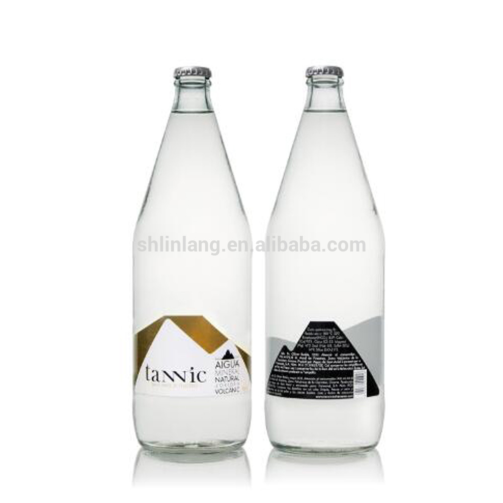 sparkling drink bottle wholesale 1L glass bottle for milk juice glass beverage bottle