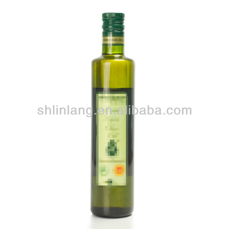 wholesale 500ml dark green bottle;square shape glass bottle;cooking oil bottle
