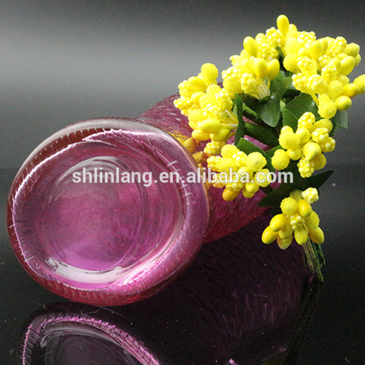 Fancy Red Color Fish Shaped glass Vase Shaped For Decoration