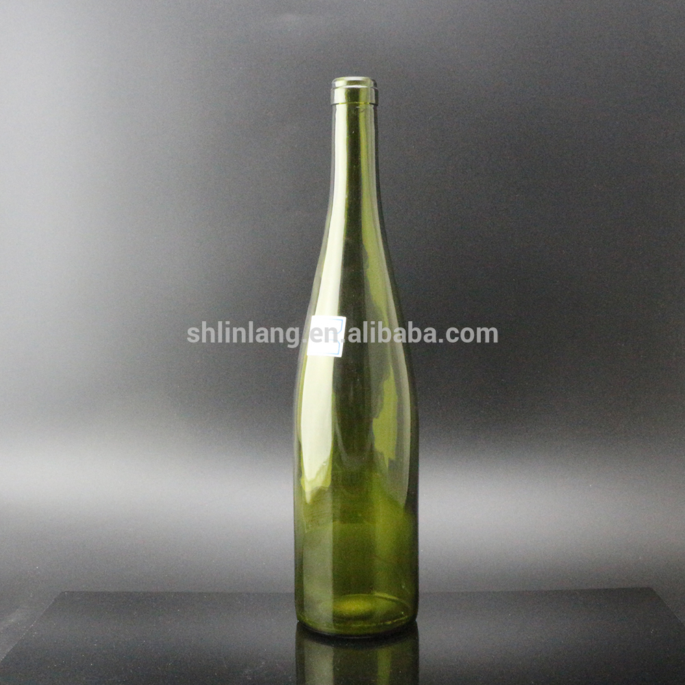Shanghai Linlang wholesale 750 ml dark green Rhine Hock wine bottle